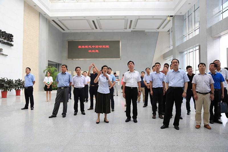第七届淮海经济区核心区城市市长会议与会领导莅临康缘药业考察